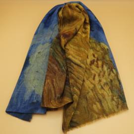"""Wollen sjaal van Gogh """"Korenveld met kraaien"""""""