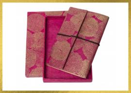 Luxe handgemaakt notitieboekje