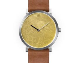 Silk horloge Goudgeel Blad   Paulus van Leeuwen