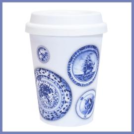 Koffiebeker-to-go Wit   Hollandsche Waaren