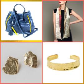 Cadeaupakket voor haar Luxe (Tas, sjaal en gouden sieraad)