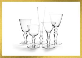 Compleet  kristallen glasservies AA van Droog Design