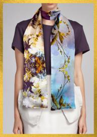 Zijden dames sjaal By Hendrik'   Flowers on Top