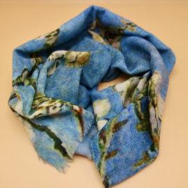 """Wollen sjaal van Gogh """"Bloesem takken"""""""