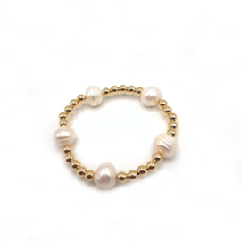 Beadalicious  14 kt GF Pearl Bracelet