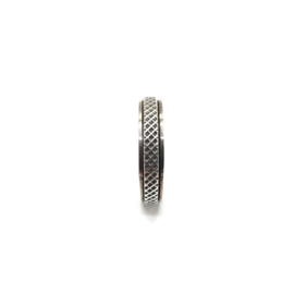 925 Sterling Silver Oxidized Spin Band Ring