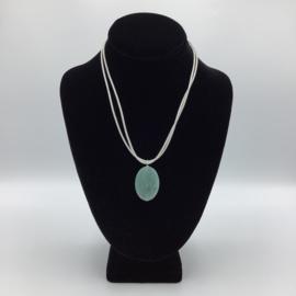 Ravishing Single Hemimorphite Necklace - Leather Collection