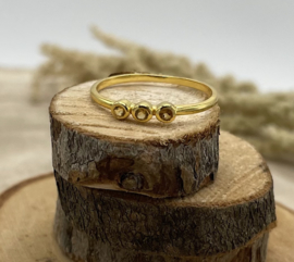 Citrine Gold Plated Ring
