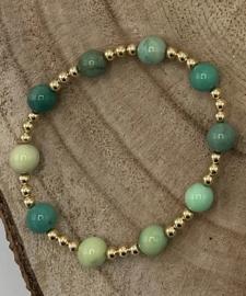 Chrysoprase Gold Filled Bracelet