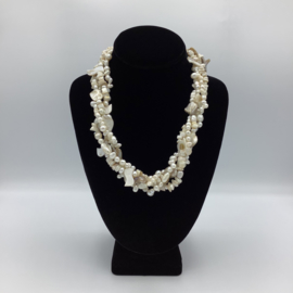 White Spunky Necklace - Twisted Collection