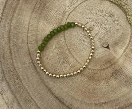 Green Gold Filled Bracelet