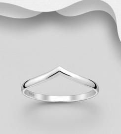 925 Sterling Silver Chevron Ring