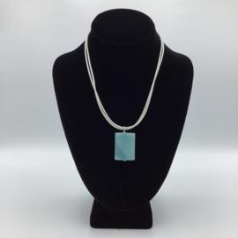Ravishing Single Amazonite Necklace - Leather Collection