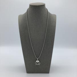 Stainless Steel Skull Necklace - For Men