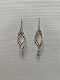 925 Sterling Silver Twist Hook Earrings