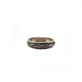 925 Sterling Silver Oxidized Weave Band Ring