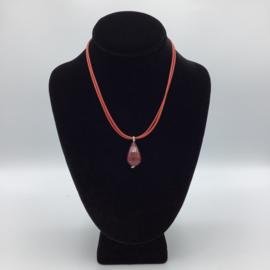Ravishing Single Stone Jade Necklace - Leather Collection