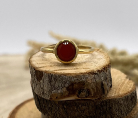 Carnelian Gold Plated Ring