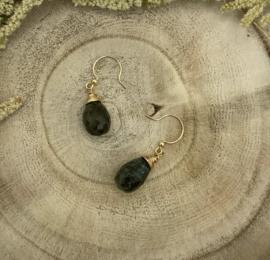 Labradorite Gold Earring