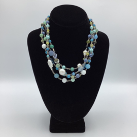 Multi Stone Four Strands Elegance - Blue Collection