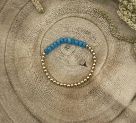 Bright Blue Gold Filled Bracelet