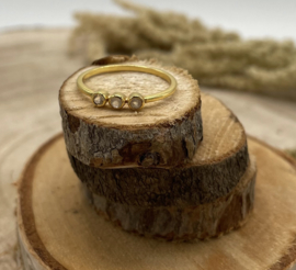 Moonstone Gold Plated Ring
