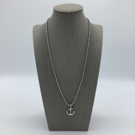 Stainless Steel Anchor Necklace - For Men