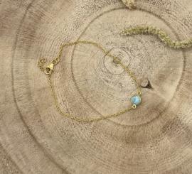 Gold Plated Larimar Bracelet