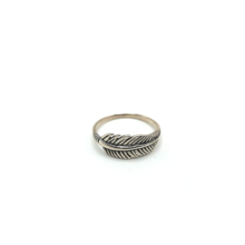 925 Sterling Silver Unisex Feather Ring