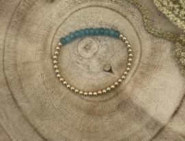 Light Blue Gold Filled Bracelet