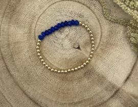 Dark Blue Gold Filled Bracelet