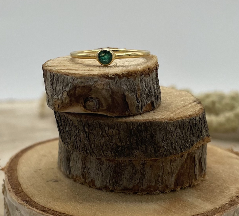 Emerald Gold Plated Ring