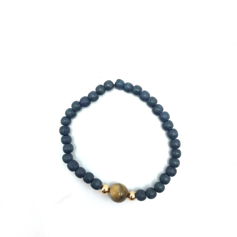 Cocowood tigereye bracelet