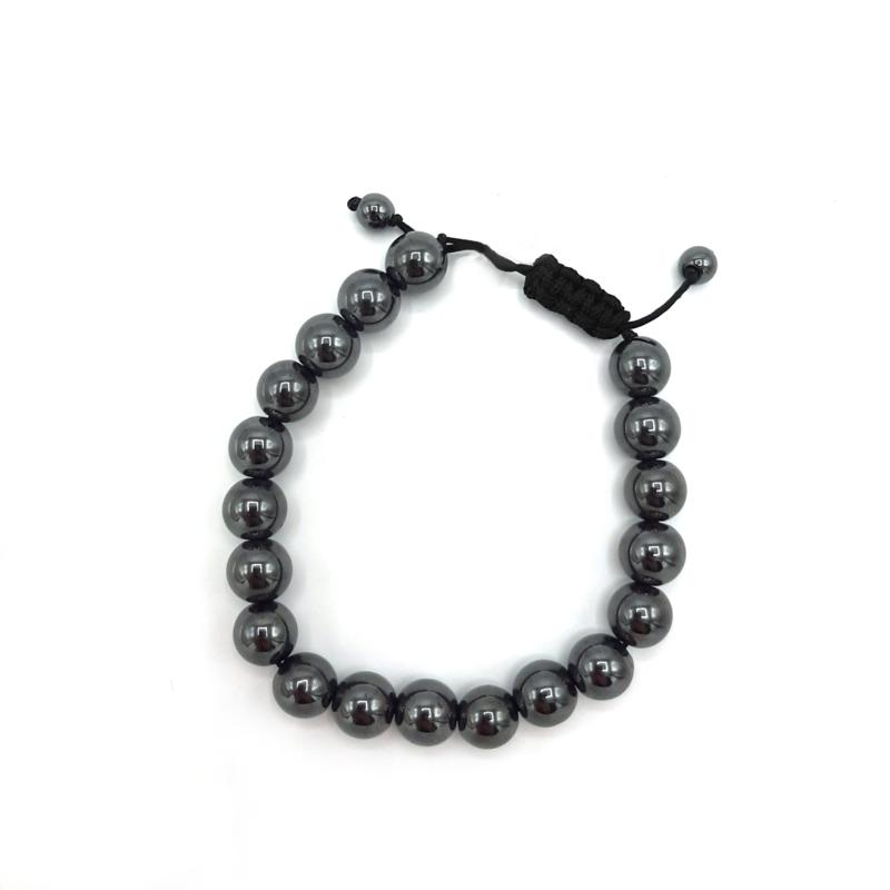 Hematite pull cord bracelet