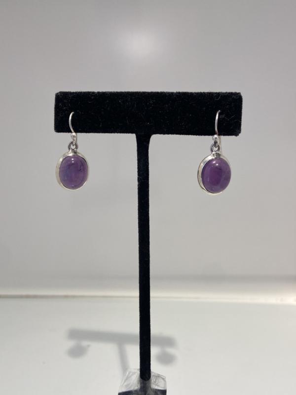 925 Sterling Silver Clear Amethyst Earrings