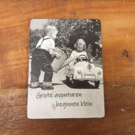 Fotokaart met tekst (groot)