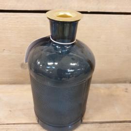Fles kandelaar  blauw