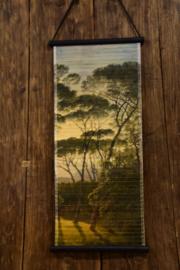Wanddoek bamboe Trees