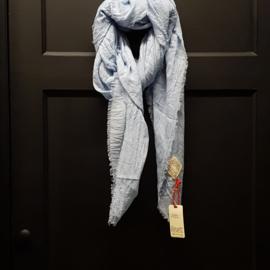 REVELZ sjaal powder light blue