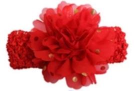 Haarband breed rood