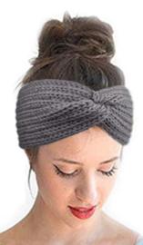 Winter haarband grijs