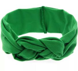 Haarband gevlochten groen
