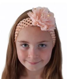 Haarband breed zalmroze