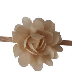 Haarband met bloem khaki