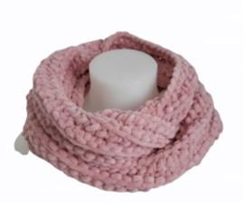 Colsjaal oud roze met haarband velvet