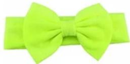 Haarband groen met grote strik 17 cm