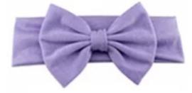Haarband grote strik 17 cm lila