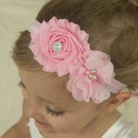 Luxe haarband roze Rosa