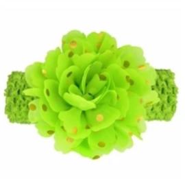 Haarband breed lime groen