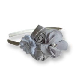Diadeem zilver grijs wit